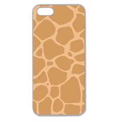 Autumn Animal Print 10 Apple Seamless iPhone 5 Case (Clear)