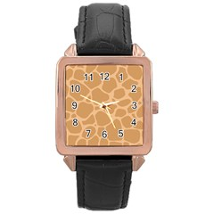 Autumn Animal Print 10 Rose Gold Leather Watch