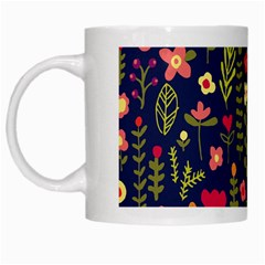 Cute Doodle Flowers 1 White Mugs by tarastyle