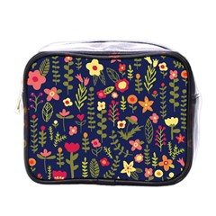 Cute Doodle Flowers 1 Mini Toiletries Bags by tarastyle