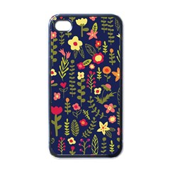 Cute Doodle Flowers 1 Apple Iphone 4 Case (black) by tarastyle