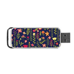 Cute Doodle Flowers 1 Portable Usb Flash (one Side) by tarastyle
