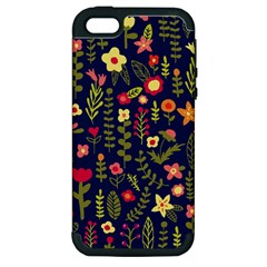 Cute Doodle Flowers 1 Apple Iphone 5 Hardshell Case (pc+silicone) by tarastyle