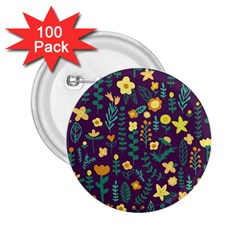 Cute Doodle Flowers 2 2 25  Buttons (100 Pack)  by tarastyle