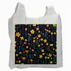 Cute Doodle Flowers 2 Recycle Bag (one Side) by tarastyle