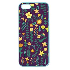 Cute Doodle Flowers 2 Apple Seamless Iphone 5 Case (color) by tarastyle