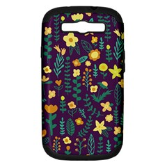 Cute Doodle Flowers 2 Samsung Galaxy S Iii Hardshell Case (pc+silicone)