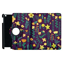 Cute Doodle Flowers 2 Apple Ipad 3/4 Flip 360 Case by tarastyle