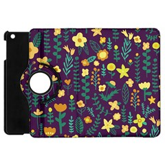 Cute Doodle Flowers 2 Apple Ipad Mini Flip 360 Case by tarastyle