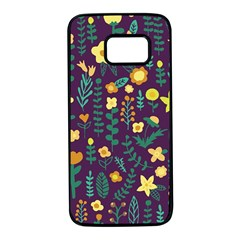 Cute Doodle Flowers 2 Samsung Galaxy S7 Black Seamless Case by tarastyle