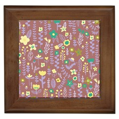 Cute Doodle Flowers 3 Framed Tiles by tarastyle