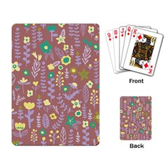Cute Doodle Flowers 3 Playing Card by tarastyle