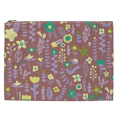 Cute Doodle Flowers 3 Cosmetic Bag (xxl)  by tarastyle