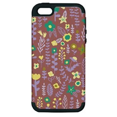Cute Doodle Flowers 3 Apple Iphone 5 Hardshell Case (pc+silicone) by tarastyle