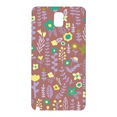 Cute Doodle Flowers 3 Samsung Galaxy Note 3 N9005 Hardshell Back Case by tarastyle