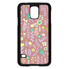Cute Doodle Flowers 3 Samsung Galaxy S5 Case (black) by tarastyle