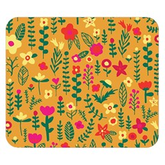 Cute Doodle Flowers 4 Double Sided Flano Blanket (small)  by tarastyle