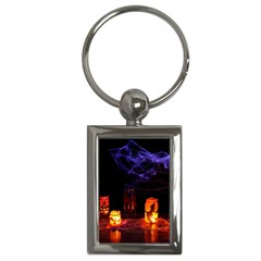 Awaiting Halloween Night Key Chains (rectangle)  by gothicandhalloweenstore