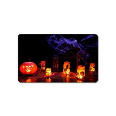Awaiting Halloween Night Magnet (name Card) by gothicandhalloweenstore