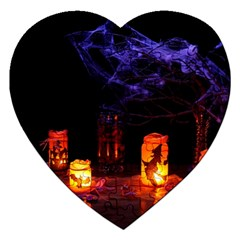Awaiting Halloween Night Jigsaw Puzzle (heart) by gothicandhalloweenstore