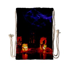 Awaiting Halloween Night Drawstring Bag (small) by gothicandhalloweenstore