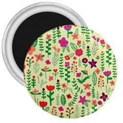 Cute Doodle Flowers 5 3  Magnets by tarastyle