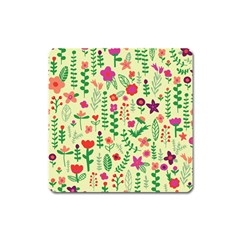 Cute Doodle Flowers 5 Square Magnet by tarastyle