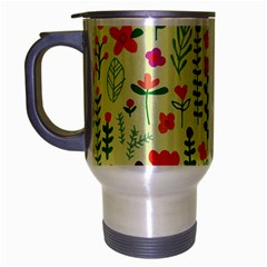 Cute Doodle Flowers 5 Travel Mug (silver Gray) by tarastyle