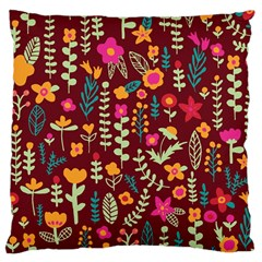 Cute Doodle Flowers 6 Large Cushion Case (two Sides) by tarastyle