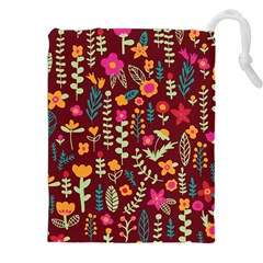 Cute Doodle Flowers 6 Drawstring Pouches (xxl) by tarastyle