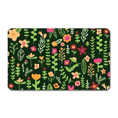 Cute Doodle Flowers 7 Magnet (rectangular) by tarastyle
