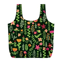 Cute Doodle Flowers 7 Full Print Recycle Bags (l)  by tarastyle