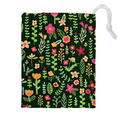 Cute Doodle Flowers 7 Drawstring Pouches (xxl) by tarastyle