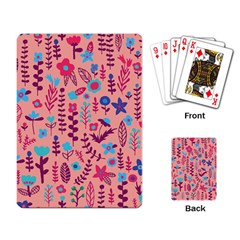 Cute Doodle Flowers 8 Playing Card by tarastyle