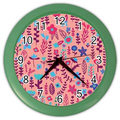 Cute Doodle Flowers 8 Color Wall Clocks by tarastyle