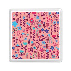 Cute Doodle Flowers 8 Memory Card Reader (square)  by tarastyle
