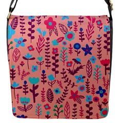 Cute Doodle Flowers 8 Flap Messenger Bag (s) by tarastyle