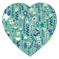 Cute Doodle Flowers 9 Jigsaw Puzzle (heart) by tarastyle