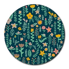 Cute Doodle Flowers 10 Round Mousepads by tarastyle