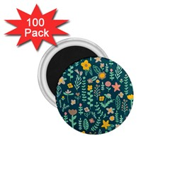 Cute Doodle Flowers 10 1 75  Magnets (100 Pack)  by tarastyle