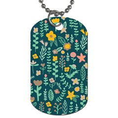 Cute Doodle Flowers 10 Dog Tag (one Side) by tarastyle