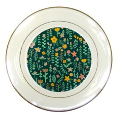 Cute Doodle Flowers 10 Porcelain Plates by tarastyle