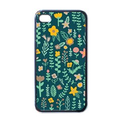 Cute Doodle Flowers 10 Apple Iphone 4 Case (black) by tarastyle
