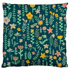 Cute Doodle Flowers 10 Large Flano Cushion Case (one Side) by tarastyle