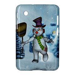 Funny Grimly Snowman In A Winter Landscape Samsung Galaxy Tab 2 (7 ) P3100 Hardshell Case  by FantasyWorld7