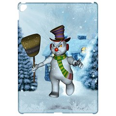 Funny Grimly Snowman In A Winter Landscape Apple Ipad Pro 12 9   Hardshell Case