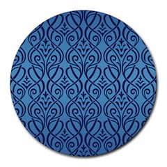 Art Nouveau Teal Round Mousepads by 8fugoso