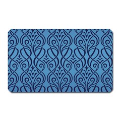 Art Nouveau Teal Magnet (rectangular) by 8fugoso