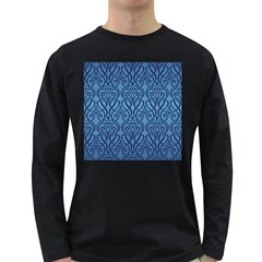 Art Nouveau Teal Long Sleeve Dark T Shirts by 8fugoso