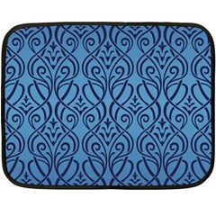 Art Nouveau Teal Double Sided Fleece Blanket (mini)  by 8fugoso